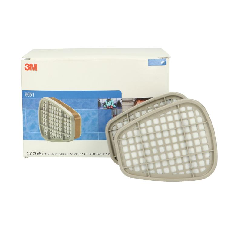 3M 6051 Gas /& Vapour Filter A1 Class 1 Box Of 4 Pairs